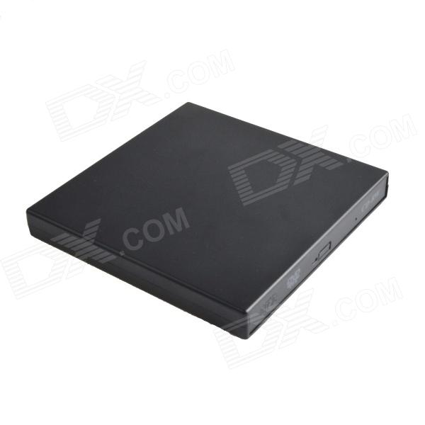 HH-091 Slim Portable USB 2.0 External Optical CD-ROM Drive - Black slim portable usb 2 0 dvd rom cd rom external optical drive black