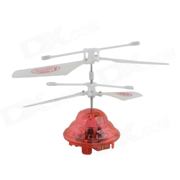 YZ-L Mini 2-CH LED IR Control R/C Flying Saucer - White + Red