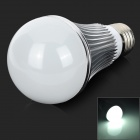 E27 7W 6500K 600lm 14-5730 SMD LED White Light Bulb - Silber + Weiß (AC 85 ~ 265V)
