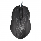SADES Big Fission Series USB 2.0 Wired Backlight 1000DPI Gaming Mouse - Black (170cm-Cable)