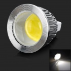 JRLED JR-LED-MR16-5W-W GX5.3 5W 300lm 6500K 1-COB White Light Spotlight - Prata + Branco (DC 12V)