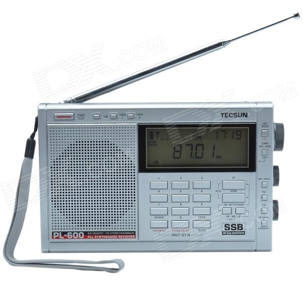 цена TECSUN PL-600 Digital Tuning Full-Band FM/MW/SW-SBB/PLL SYNTHESIZED Stereo Radio Receiver (4xAA)