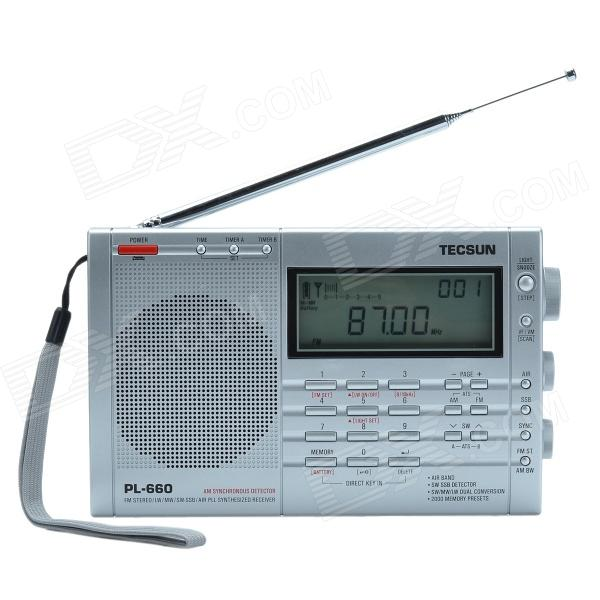 TECSUN PL-660 3.2 LCD Digital Tuning Full-Band FM/MW/SW-SBB/AIR/PLL Stereo Radio Receiver (4 x AA) tivdio portable fm radio dsp fm stereo mw sw lw portable radio full band world receiver clock
