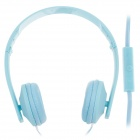 Sibyl y502 Stylish Stereo Headband Headphones w / Microphone - Blue (3.5mm Plug / 110cm-Cable)