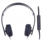 Sibyl y502 Stylish Stereo Headband Headphones w / Microphone - Black (3.5mm Plug / 110cm-Cable)