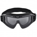 SW2018 Outdoor Sport Shock-Resistant Goggles w/ Replacement Lenses - Black