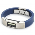 "0.7"" LCD Bluetooth Cell Phone Caller ID Display and Call Alert Vibrating Bracelet - Blue + Silver"