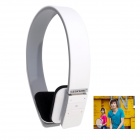 Geekwire Stereo Bluetooth EDR 3.0 Headset w/ Noise Reduction Directive Mic for Iphone + More - White