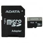 ADATA MicroSDHC UHS-I TF Card with SD Adapter - Black (16GB / Class 10)