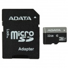 ADATA MicroSDHC UHS-I TF Card w/ SD Adapter - Black (32GB / Class 10)