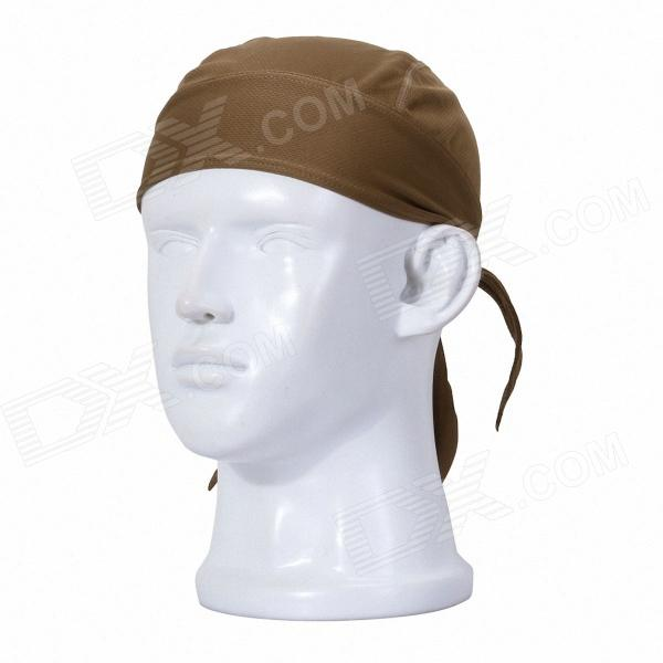 Qinglonglin ED Stylish Quick Dry Fabric Cycling Cap - Brown