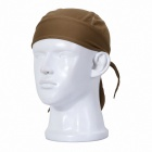 Qinglonglin ED élégant Quick Dry Tissu Cycling Cap - Brown
