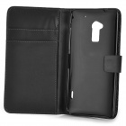 A-556 Protective PU Leather Case for HTC One Max T6 - Black