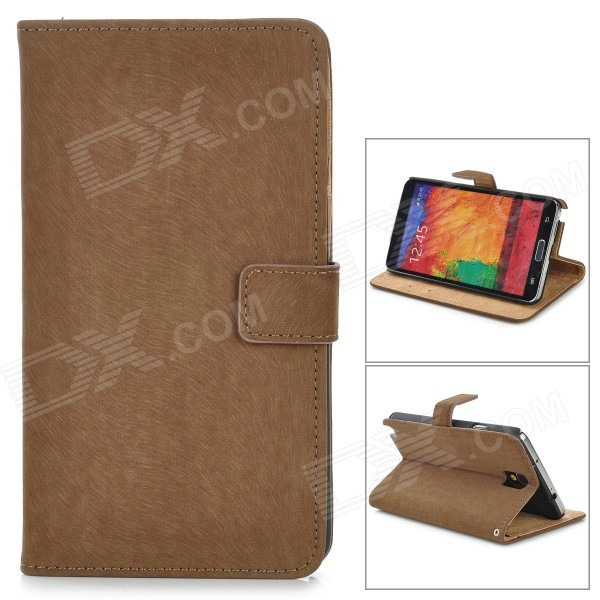 Squirrel Grain Style Protective PU Leather Case for Samsung Galaxy Note 3 N9000 - Brown cool snake skin style protective pu leather case for samsung galaxy s3 i9300 brown