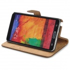 Squirrel Grain Style Protective PU Leather Case for Samsung Galaxy Note 3 N9000 - Brown