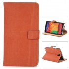 Squirrel Grain Style Protective PU Leather Case for Samsung Galaxy Note 3 N9000 - Red Brown