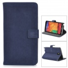 Squirrel Grain Style Protective PU Leather Case for Samsung Galaxy Note 3 N9000 - Dark Blue