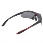CARSHIRO E0089 Outdoor Cycling Polarized UV400 Protection Goggles - Black + Red