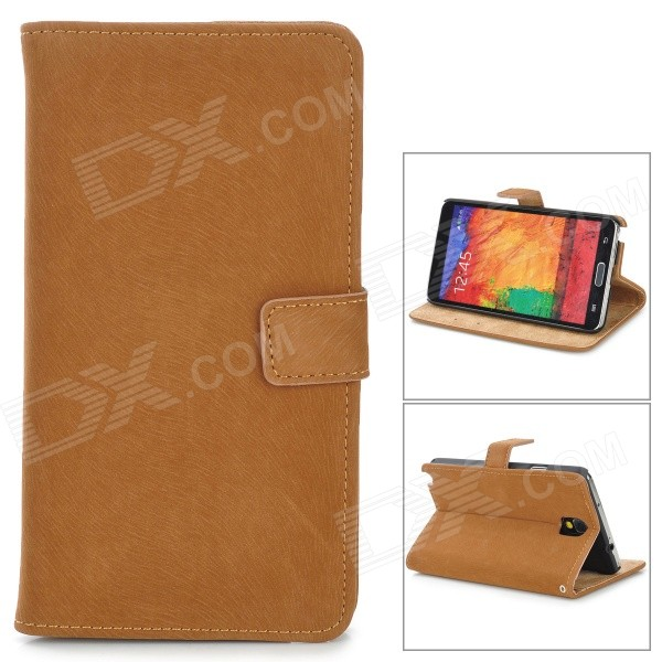 Squirrel Grain Style Protective PU Leather Case for Samsung Galaxy Note 3 N9000 - Light Brown cool snake skin style protective pu leather case for samsung galaxy s3 i9300 brown
