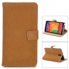Squirrel Grain Style Protective PU Leather Case for Samsung Galaxy Note 3 N9000 - Light Brown