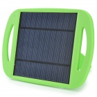 WN-801 5V 500mA Li-ion Polymer Solar Power Charger w/ Stand - Black + Green