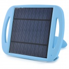 WN-801 5V 500mA Li-ion Polymer Solar Power Charger w/ Stand - Black + Blue