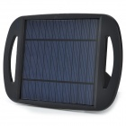 WN-801 5V 500mA Li-ion Polymer Solar Power Charger w/ Stand - Black