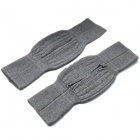 Soft and Elasticity Cashmere Wool Knee Warmer Support Warmer - Gray (Pair)