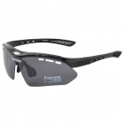 CARSHIRO E0089 Outdoor Cycling Polarized UV400 Protection Goggles - Black