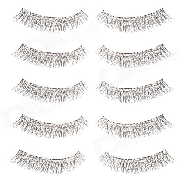 Yanyaxi Charming Black False Eyelashes for Beauty Makeup (5 Pair)