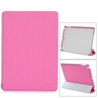 Stylish Protective PU Leather + PC Case for Ipad AIR - Deep Pink