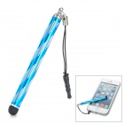 Retractable Capacitive Touch Screen Stylus Pen w/ Anti-Dust Plug for Iphone 5 / 5c / 5s - Blue