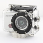 WDV5000 FHD 1080P 5.0MP CMOS Wi-Fi DV Sports Camera - Black + Silver