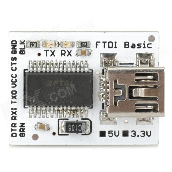FTDI Basic FIO/pro/mini/lilypad Downloader - White + Black