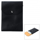 Universal Protective PU Leather Pouch Bag w/ Strap for Ipad MINI / Tablet PC - Black