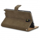 Squirrel Grain Style Protective PU Leather Case for Samsung Galaxy Note 3 N9000 - Dark Brown