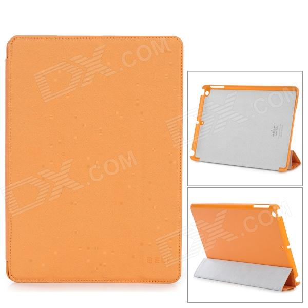 Protective Folding PU Leather Case for Ipad AIR - Orange + GreyCases for Ipad<br>Color Orange + Grey Quantity 1 Piece Material PU leather + PC Compatible Models Ipad AIR Style Full Body CasesFlip Open Auto Wake-up / Sleep No Other Features Protects your device from scratches shock and dust; Can be folded as a stand providing great angle for viewing playing and typing; Convenient to use Packing List 1 x Case<br>