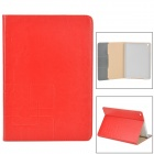 Protecitve Flip Open PU Leather Case for Ipad AIR - Red