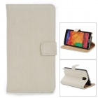 Squirrel Grain Style Protective PU Leather Case for Samsung Galaxy Note 3 N9000 - Beige