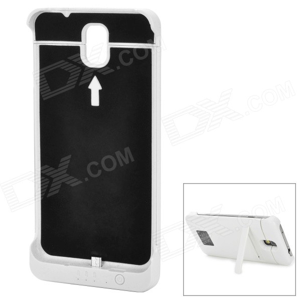 External 5500mAh Power Battery Charger w/ Back Case for Samsung Galaxy Note 3 N9000 - White