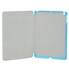 Protective 3-Section Folding PU Leather Case w/ Auto Sleep for Ipad AIR - Blue