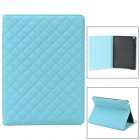 Retro Ling Plaid PU Leather Case w/ Auto Sleep for Ipad AIR - Blue