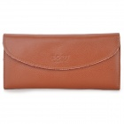 BODI k333 Women's PU Leather Long Wallet - Brown