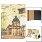"Retro Style ""the White House"" Pattern PU Leather Case w/ Auto Sleep for Ipad AIR - Brown"