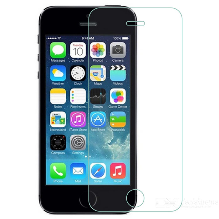 S-What 0.3mm Explosion-proof Clear Tempered Glass Screen Guard Film for Iphone 5 / 5s - Transparent mokin clear tempered glass screen protector guard film for iphone 6 plus 5 5 transparent