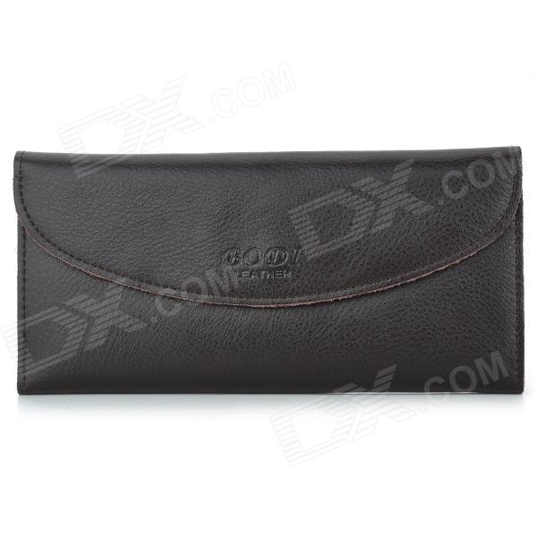 BODI k333 Women's PU Leather Long Wallet - Coffee