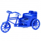 Novel 3-wheel Bike Style R/C Speaker Artwork w/ USB Flash Drive / TF / FM / LED Rear Lamp - Blue