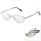 LAOREN100 E818 Folding +300 Diopter Resin Lens Presbyopia Reading Glasses - Golden