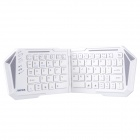 IBK-03 Ultrathin Foldable Bluetooth V3.0 66-Key Keyboard for Cellphone, Tablet, Desktop PC - White