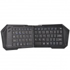 IBK-03 Ultrathin Foldable Bluetooth V3.0 66-Key Keyboard for Cellphone, Tablet, Desktop PC - Black